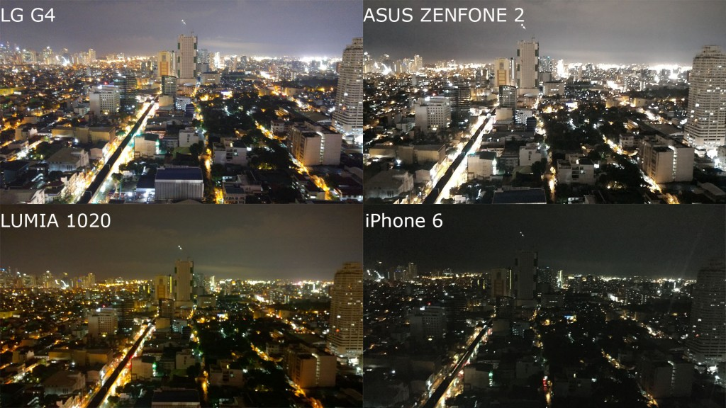 night mode lg g4 vs zenfone 2 vs lumia 1020 vs iphone 6