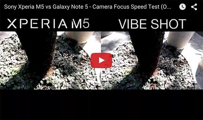 sony xperia m5 vs galaxy note 5 camera review