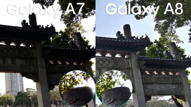 samsung galax a8 vs galay a7 camera review comparison4