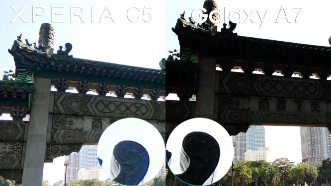 xperia c5 ultra vs galay a7 camera review comparison4
