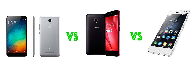 Asus Live Vs Xiaomi Redmi Note 3 Lenovo Vibe S1 Lite Specs Comparison Ram 2gb 16gb 4g Lte Helio X10 Octa Core