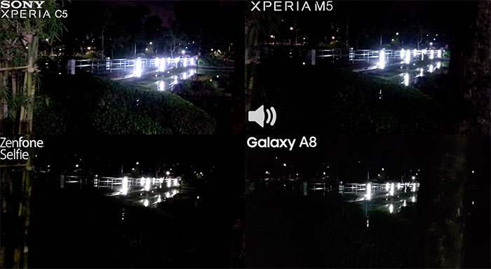 Full HD 1080p video battle mid-range Android Xperia M5 Sony Samsung Galaxy A8 Asus Zenfone Selfie