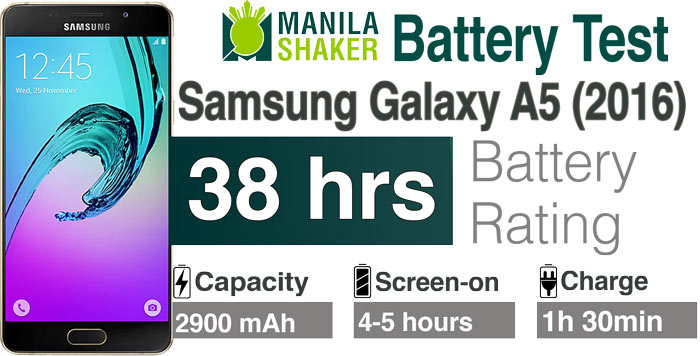 Samsung Galaxy A5 2016 battery life rating review ph