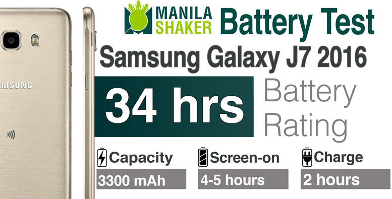 Samsung Galaxy J7 2016 Battery Life Rating Review