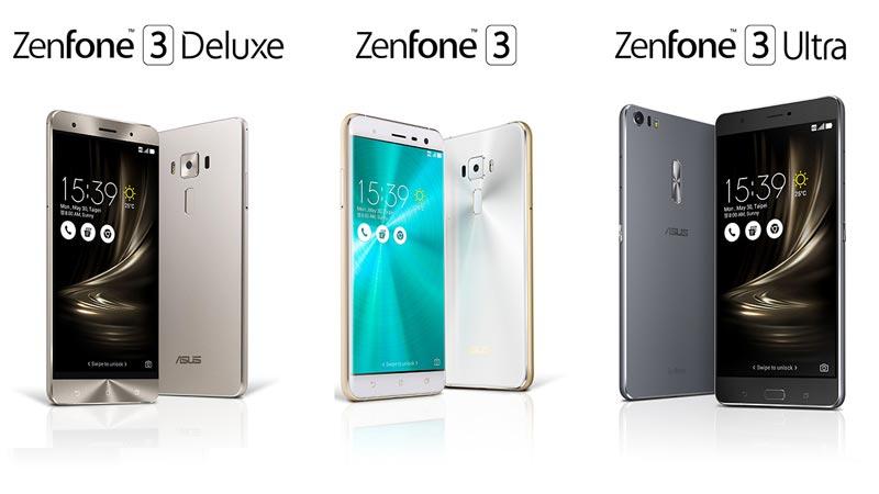 Asus Zenfone 3 vs Deluxe vs Ultra Specs Price Comparison