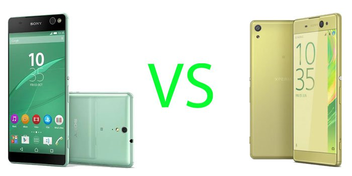 Sony Xperia XA Ultra vs C5 Ultra Specs Comparison
