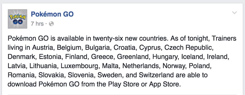 Pokemon Go App Official Launch Release Europe Philippines