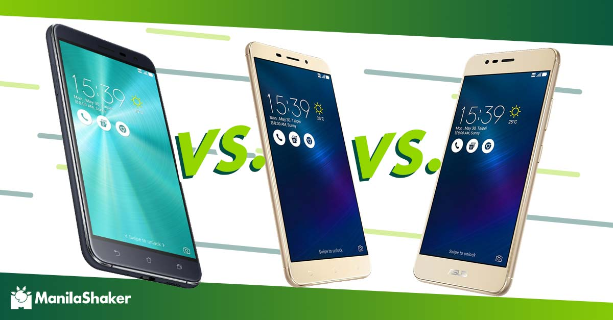 Asus Zenfone 3 Vs Max ZC553KL Vs Laser Specs Price Comparison