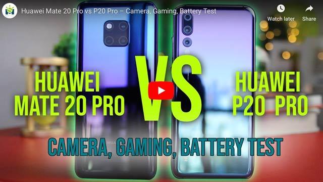 huawei mate 20 vs p20