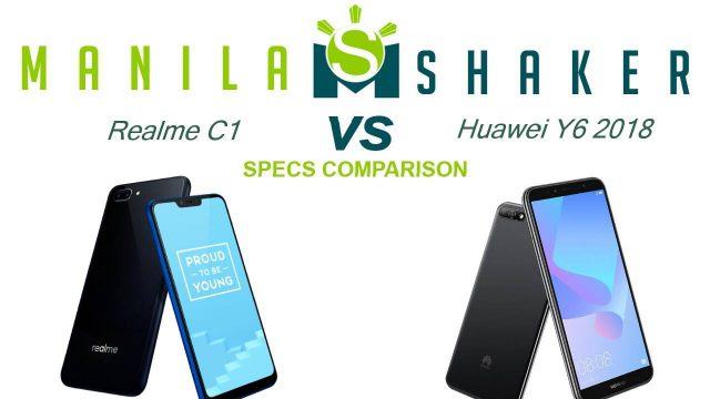 realme c1 specs comparison vs huawei y6 2019