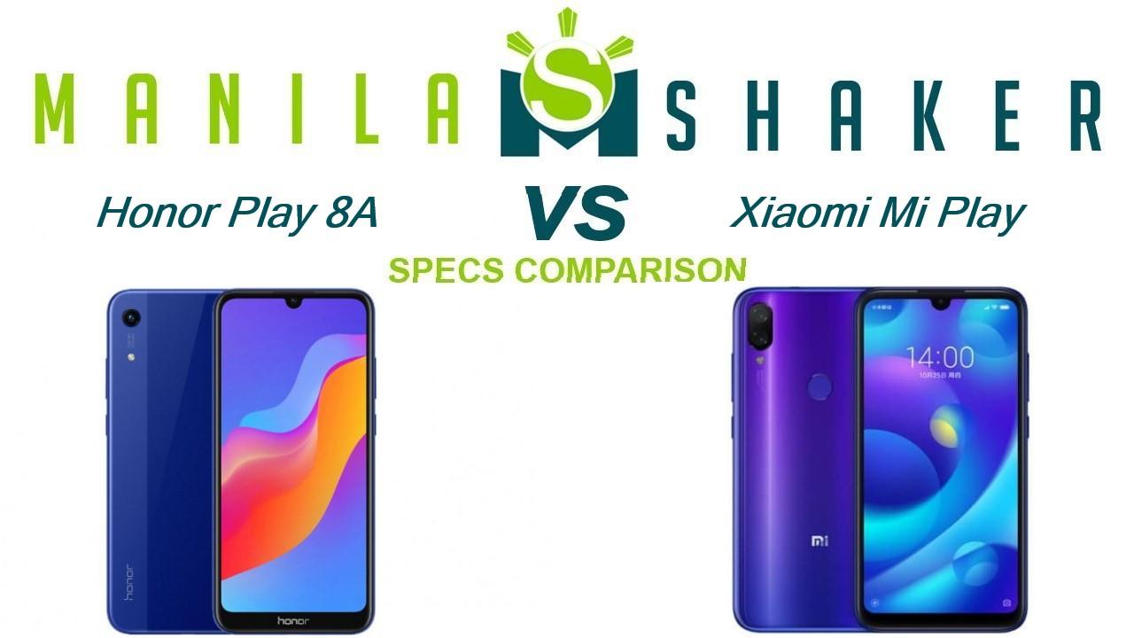 Honor Play 8A vs Xiaomi Mi Play Specs Comparison