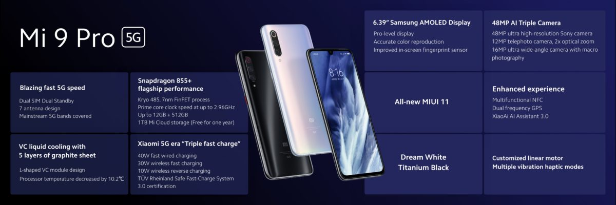 Xiaomi Mi 9 Pro 5g Snapdragon 855 30w Wireless P27k Price