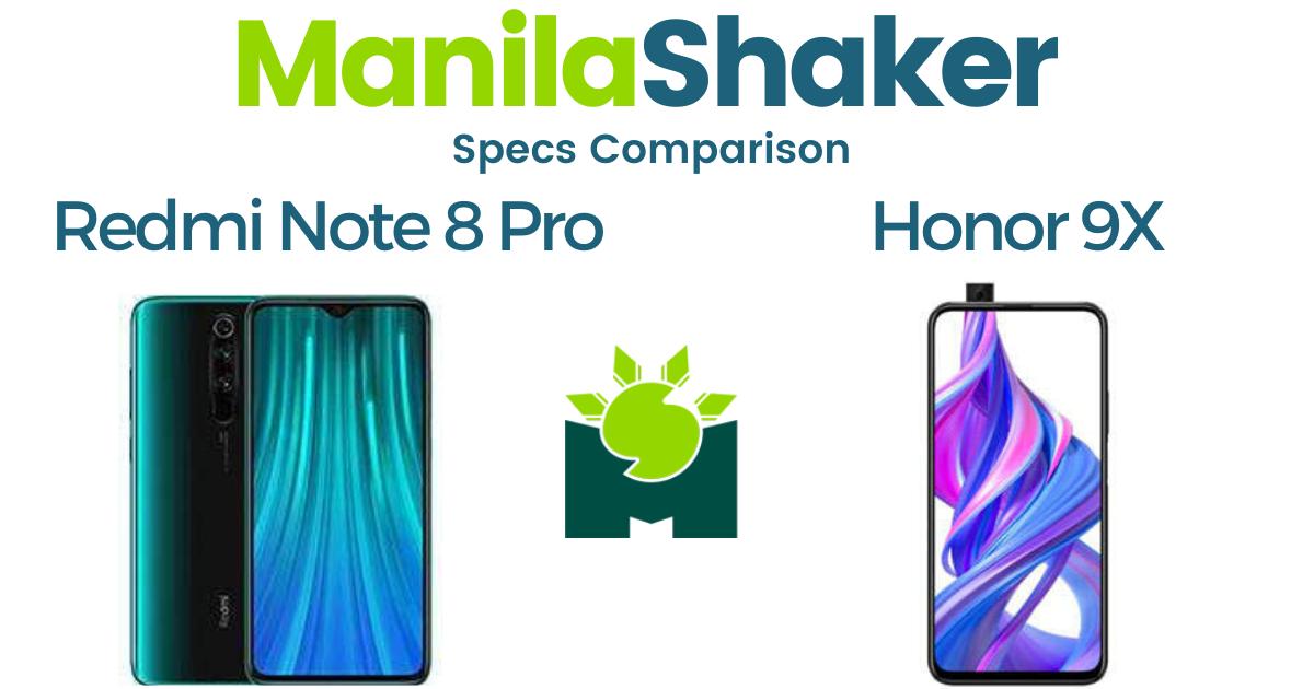 honor-9x-pro-vs-redmi-note-8-pro-specs-comparison