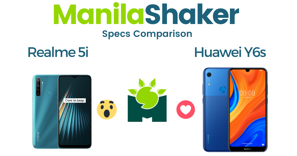 realme-5i-vs-huawei-y6s-specs-comparison
